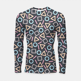 Thumbnail image of Geometric Shapes Pattern (Black) Longsleeve Rashguard , Live Heroes