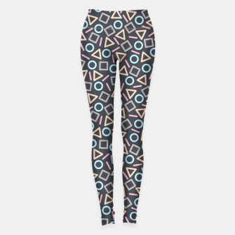 Thumbnail image of Geometric Shapes Pattern (Black) Leggings, Live Heroes