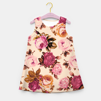 Miniatur Vintage Roses Girl's Summer Dress, Live Heroes