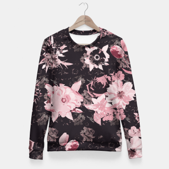 Miniatur Pink shines in the dark Fitted Waist Sweater, Live Heroes