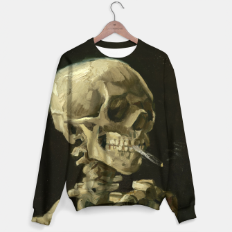 Skull of a Skeleton with Burning Cigarette by Vincent van Gogh Sweater Bild der Miniatur