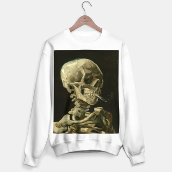 Skull of a Skeleton with Burning Cigarette by Vincent van Gogh Sweater regular Bild der Miniatur