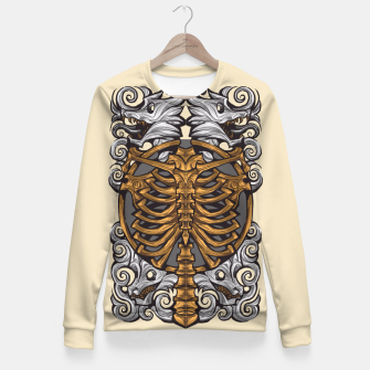 Miniatur wolfing ribcage 2 Fitted Waist Sweater, Live Heroes