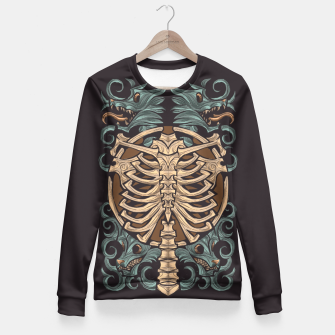 Miniatur wolving ribcage 3 Fitted Waist Sweater, Live Heroes