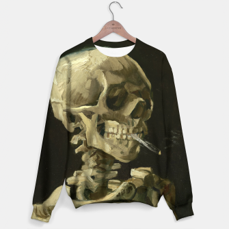 Thumbnail image of Skull of a Skeleton with Burning Cigarette by Vincent van Gogh Sweater, Live Heroes