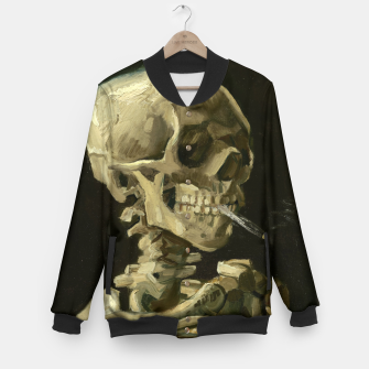 Miniaturka Skull of a Skeleton with Burning Cigarette by Vincent van Gogh Baseball Jacket, Live Heroes