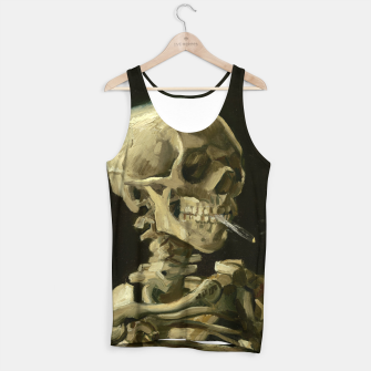 Skull of a Skeleton with Burning Cigarette by Vincent van Gogh Tank Top Bild der Miniatur