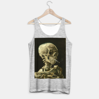 Miniatur Skull of a Skeleton with Burning Cigarette by Vincent van Gogh Tank Top regular, Live Heroes