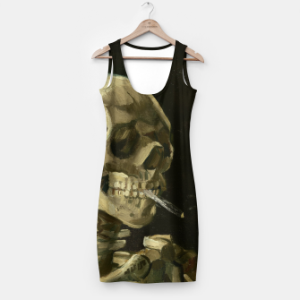 Miniatur Skull of a Skeleton with Burning Cigarette by Vincent van Gogh Simple Dress, Live Heroes