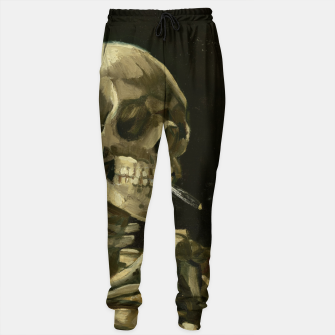 Imagen en miniatura de Skull of a Skeleton with Burning Cigarette by Vincent van Gogh Sweatpants, Live Heroes