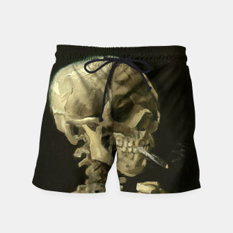 Skull of a Skeleton with Burning Cigarette by Vincent van Gogh Swim Shorts Bild der Miniatur