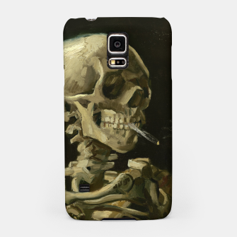 Skull of a Skeleton with Burning Cigarette by Vincent van Gogh Samsung Case Bild der Miniatur