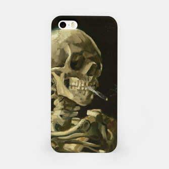 Skull of a Skeleton with Burning Cigarette by Vincent van Gogh iPhone Case Bild der Miniatur