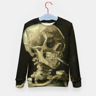 Skull of a Skeleton with Burning Cigarette by Vincent van Gogh Kid's Sweater Bild der Miniatur