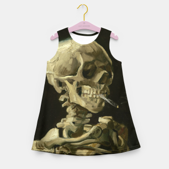 Miniatur Skull of a Skeleton with Burning Cigarette by Vincent van Gogh Girl's Summer Dress, Live Heroes