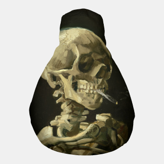 Miniatur Skull of a Skeleton with Burning Cigarette by Vincent van Gogh Pouf, Live Heroes