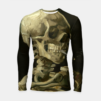Skull of a Skeleton with Burning Cigarette by Vincent van Gogh Longsleeve Rashguard  Bild der Miniatur