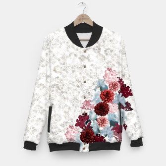 Miniaturka elegant flower decoration freesia iris dahlia pink red blue white japanese Kamon Baseball Jacket, Live Heroes