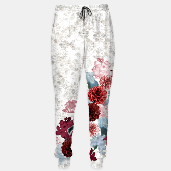 Imagen en miniatura de elegant flower decoration freesia iris dahlia pink red blue white japanese Kamon Sweatpants, Live Heroes