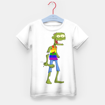 Miniatur Gombie the Gay Zombie Kid's T-shirt, Live Heroes