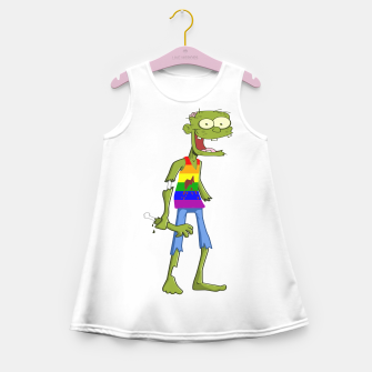 Miniatur Gombie the Gay Zombie Girl's Summer Dress, Live Heroes