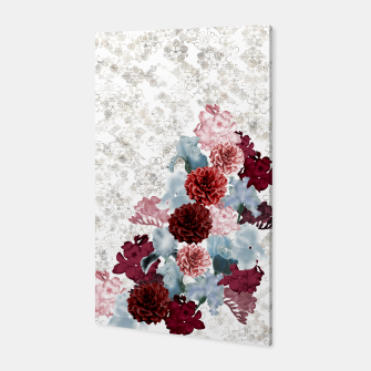 Thumbnail image of elegant flower decoration freesia iris dahlia pink red blue white japanese Kamon Canvas, Live Heroes