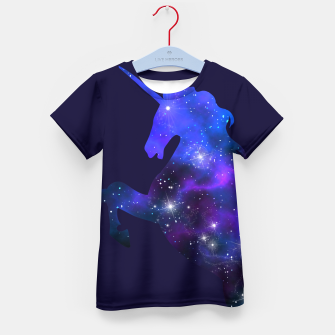Galaxy Unicorn Kid's T-shirt Bild der Miniatur