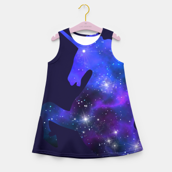 Galaxy Unicorn Girl's Summer Dress Bild der Miniatur