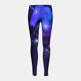 Galaxy Unicorn Girl's Leggings Bild der Miniatur