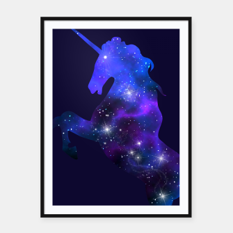 Thumbnail image of Galaxy Unicorn Framed poster, Live Heroes