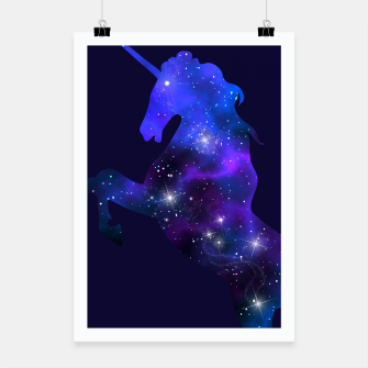 Thumbnail image of Galaxy Unicorn Poster, Live Heroes