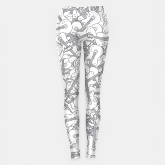 Guitar Hero II B&W Leggings Bild der Miniatur
