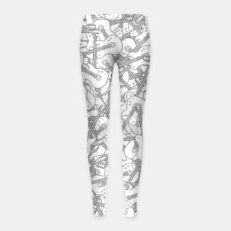 Guitar Hero II B&W Girl's Leggings Bild der Miniatur
