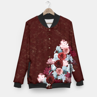 Miniaturka elegant flower gradation with japanese traditional Kamon decoration like kimono Baseball Jacket, Live Heroes