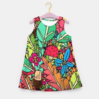 Miniatur - Autumn Nature Girl's Summer Dress, Live Heroes