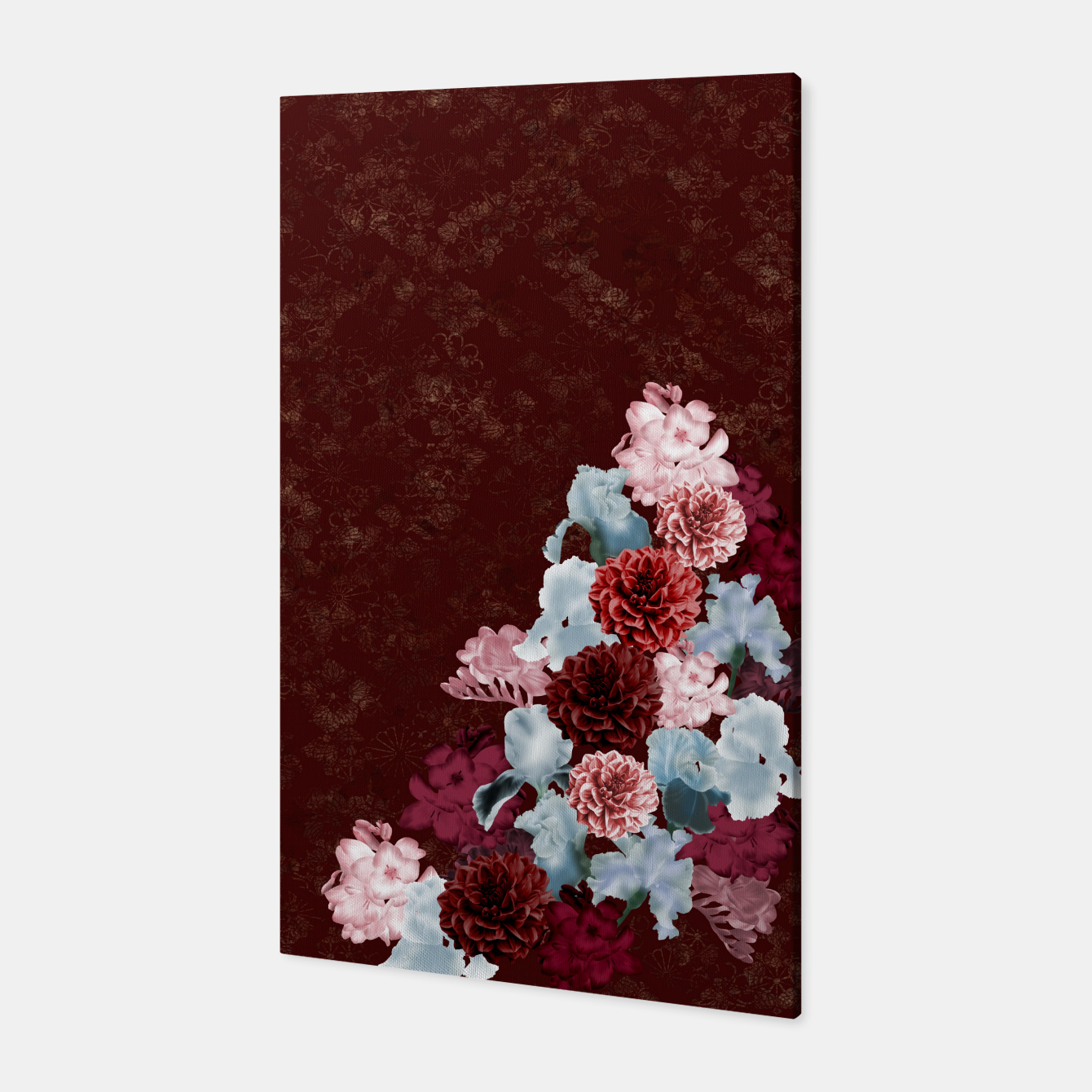 Foto elegant flower gradation with japanese traditional Kamon decoration like kimono Canvas - Live Heroes