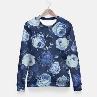Thumbnail image of Midnight Floral Fitted Waist Sweater, Live Heroes