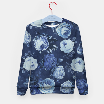 Thumbnail image of Midnight Floral Kid's Sweater, Live Heroes