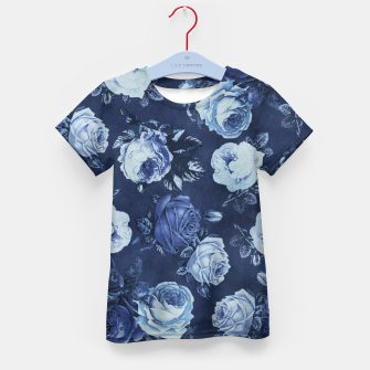 Thumbnail image of Midnight Floral Kid's T-shirt, Live Heroes