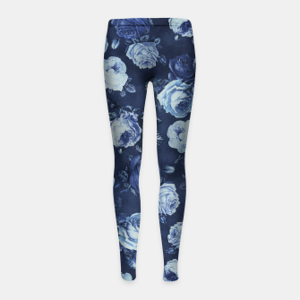 Thumbnail image of Midnight Floral Girl's Leggings, Live Heroes