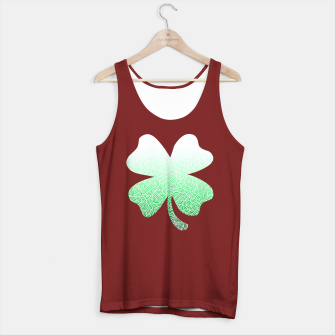 Miniatur Ombre green and white swirls doodles shamrock Tank Top regular, Live Heroes