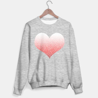 Miniaturka Ombre red and white swirls doodles heart Sweater regular, Live Heroes
