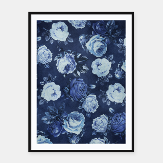 Thumbnail image of Midnight Floral Framed poster, Live Heroes