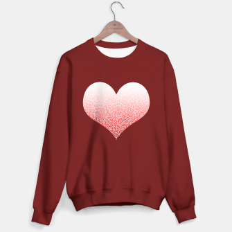 Miniatur Ombre red and white swirls doodles heart Sweater regular, Live Heroes