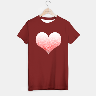 Miniatur Ombre red and white swirls doodles heart T-shirt regular, Live Heroes