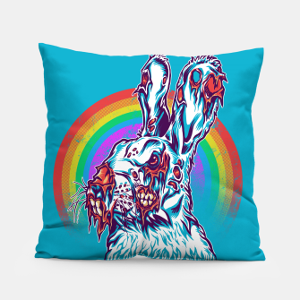 Zombie Rabbit Pillow Bild der Miniatur