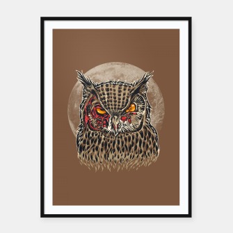 Miniaturka Zombie Owl Framed poster, Live Heroes