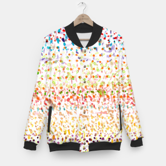 Miniaturka Striped Piled Dots Pattern  Baseball Jacket, Live Heroes