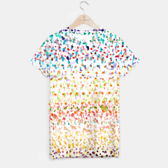 Imagen en miniatura de Striped Piled Dots Pattern  T-shirt, Live Heroes