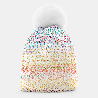 Striped Piled Dots Pattern  Beanie Bild der Miniatur